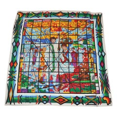 """""""Limited Edition"""" 1986 Afewerk & Tekle """"Stained Glass"""" Silk Scarf"""