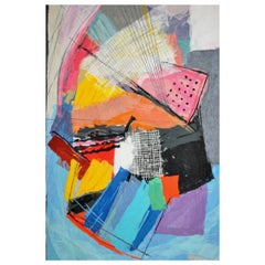 """Limited Edition 20th Century Calman Shemi """"Abstract"""" Tapestry Rug"""