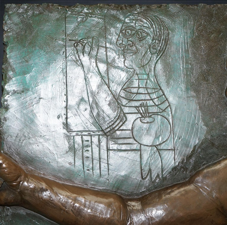 Limited Edition 3/65 Bill Mack Signed Tribute to Picasso Huge Bronze Picture For Sale 6