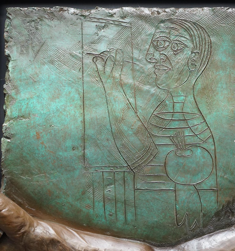 Limited Edition 3/65 Bill Mack Signed Tribute to Picasso Huge Bronze Picture For Sale 7