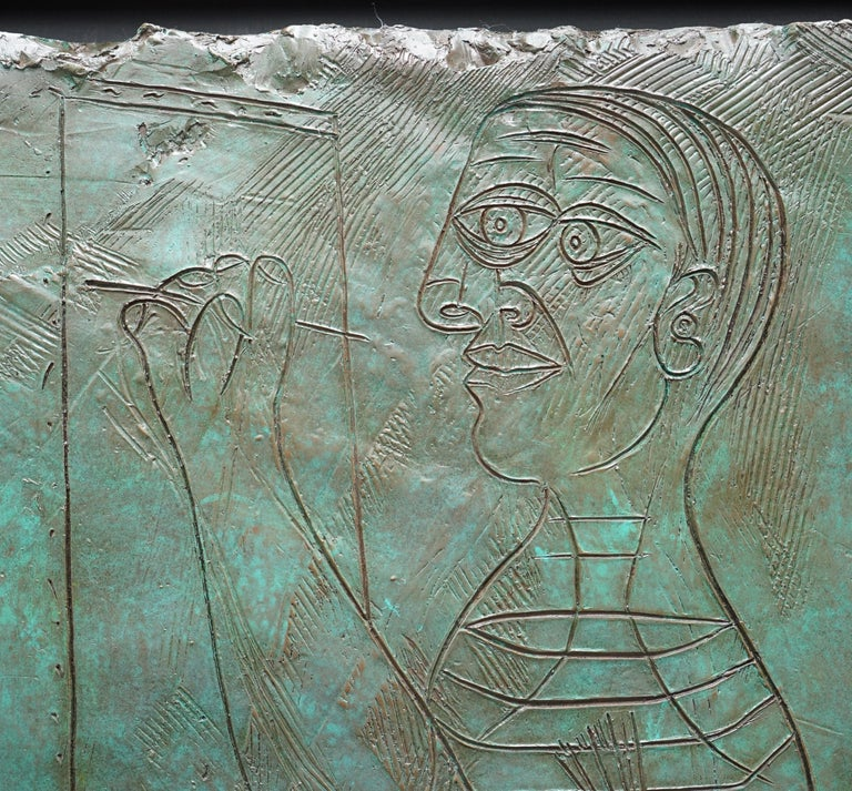 Limited Edition 3/65 Bill Mack Signed Tribute to Picasso Huge Bronze Picture For Sale 8