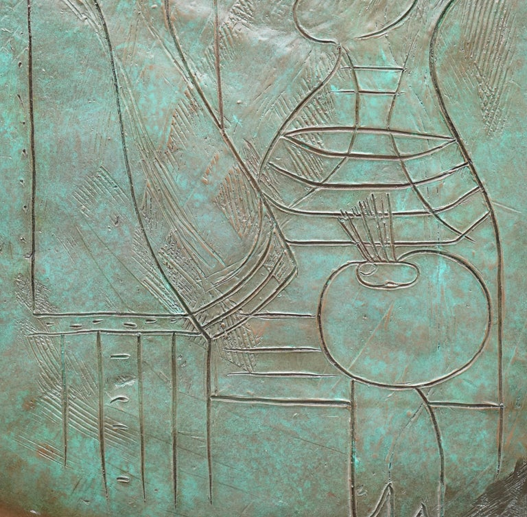 Limited Edition 3/65 Bill Mack Signed Tribute to Picasso Huge Bronze Picture For Sale 9