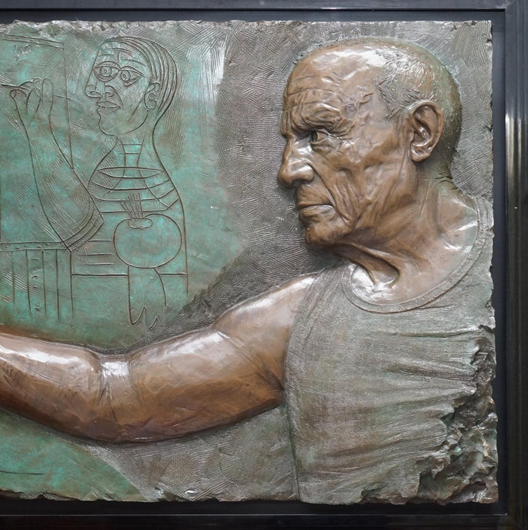 We are delighted to offer for sale this stunning and exceptionally rare 1984 low Limited Edition number 3/65 Bill Mack a tribute to Picasso bonded bronze picture RRP $100,000 (£78,500 GBP)  The impact of Bill Mack's art is achieved not only by his