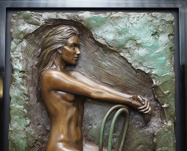 We are delighted to offer for sale this stunning and exceptionally rare 1987 Limited Edition number 78/95 Bill Mack Solitude bonded bronze picture  The impact of Bill Mack's art is achieved not only by his dramatic portrayal of the human form, but