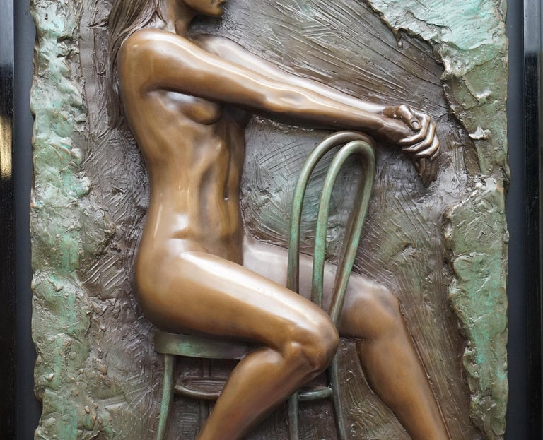 Modern Limited Edition 78/95 Bill Mack Signed Bronze Statue Picture Titled Solitude For Sale