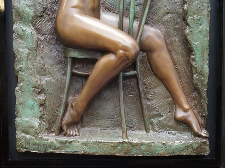European Limited Edition 78/95 Bill Mack Signed Bronze Statue Picture Titled Solitude For Sale