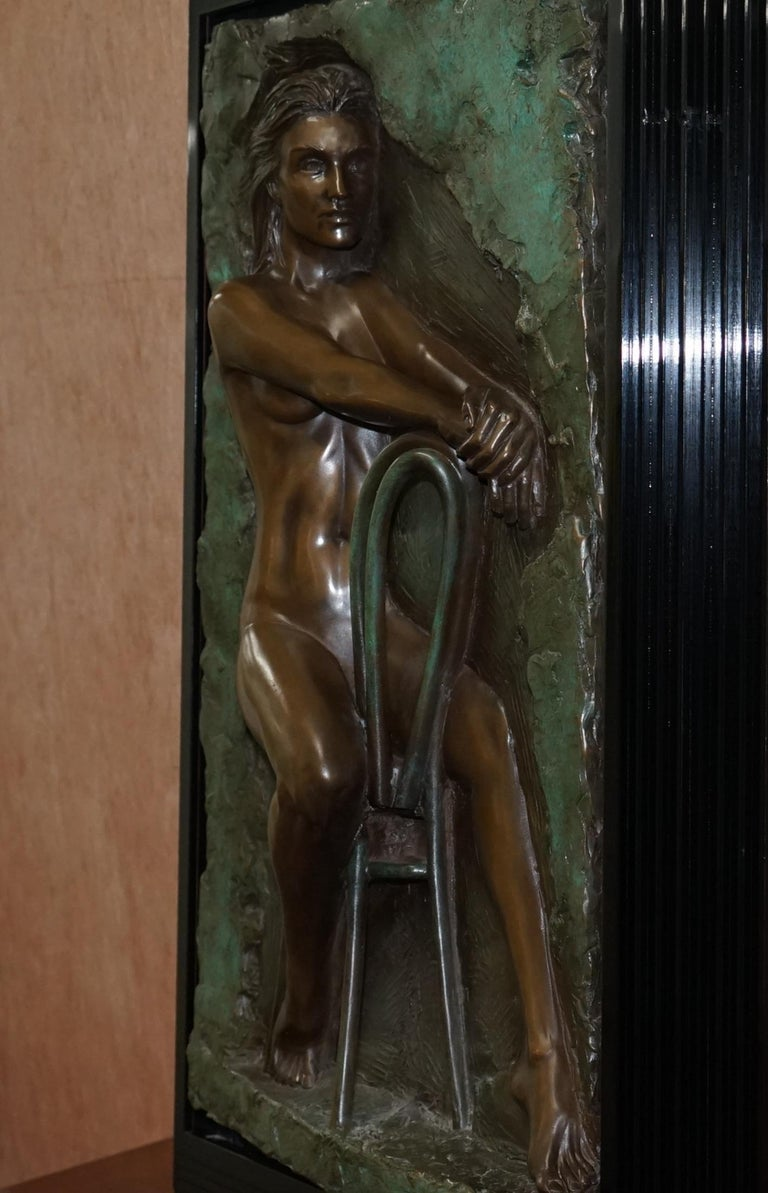 Limited Edition 78/95 Bill Mack Signed Bronze Statue Picture Titled Solitude In Good Condition For Sale In London, GB
