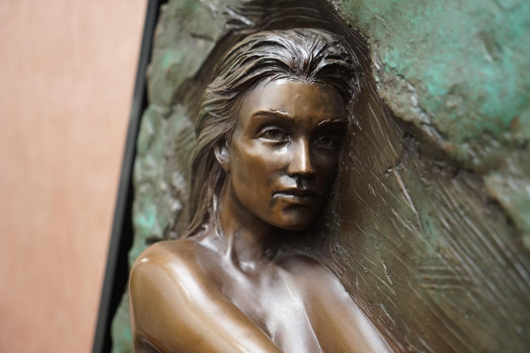 Limited Edition 78/95 Bill Mack Signed Bronze Statue Picture Titled Solitude For Sale 1