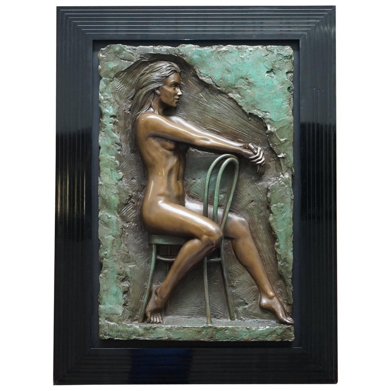 Limited Edition 78/95 Bill Mack Signed Bronze Statue Picture Titled Solitude For Sale