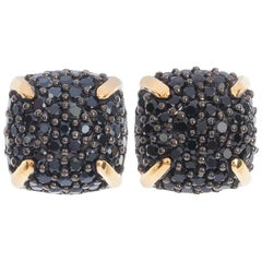 Limited Edition 9 Carat Yellow Gold Spinel Cluster Earrings
