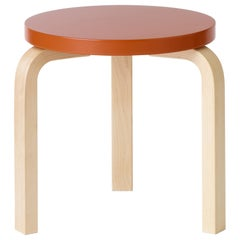 Limited Edition Alvar Aalto Medium Stool 60 in Pumpkin by Artek + Heath
