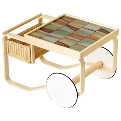 Limited Edition Alvar Aalto Tea Trolley 900 in Landscape by Artek + Heath