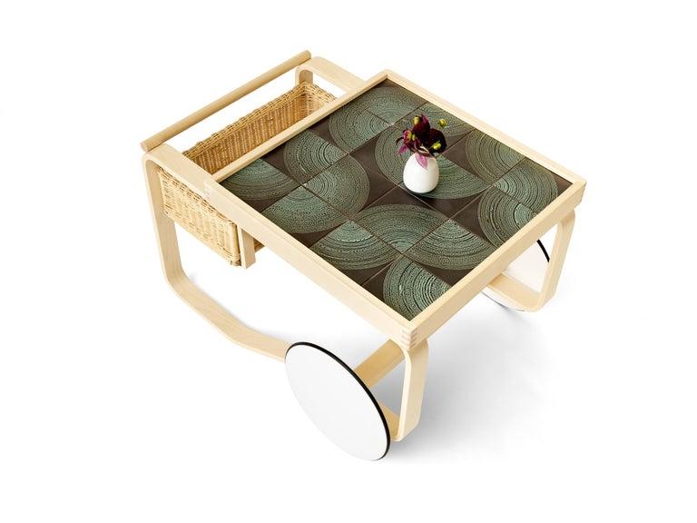Birch Limited Edition Alvar Aalto Tea Trolley 900 in Maze by Artek and Heath For Sale