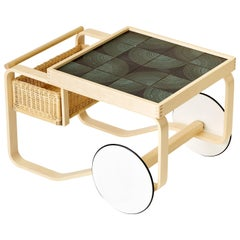 Limited Edition Alvar Aalto Tea Trolley 900 in Maze, Artek and Heath, 1stdibs NY