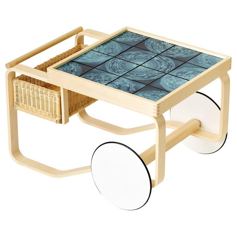 Limited Edition Alvar Aalto Tea Trolley 900 in Orbit by Artek + Heath 1