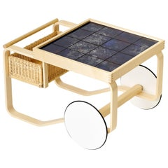 Limited Edition Alvar Aalto Tea Trolley 900 in Universe by Artek + Heath