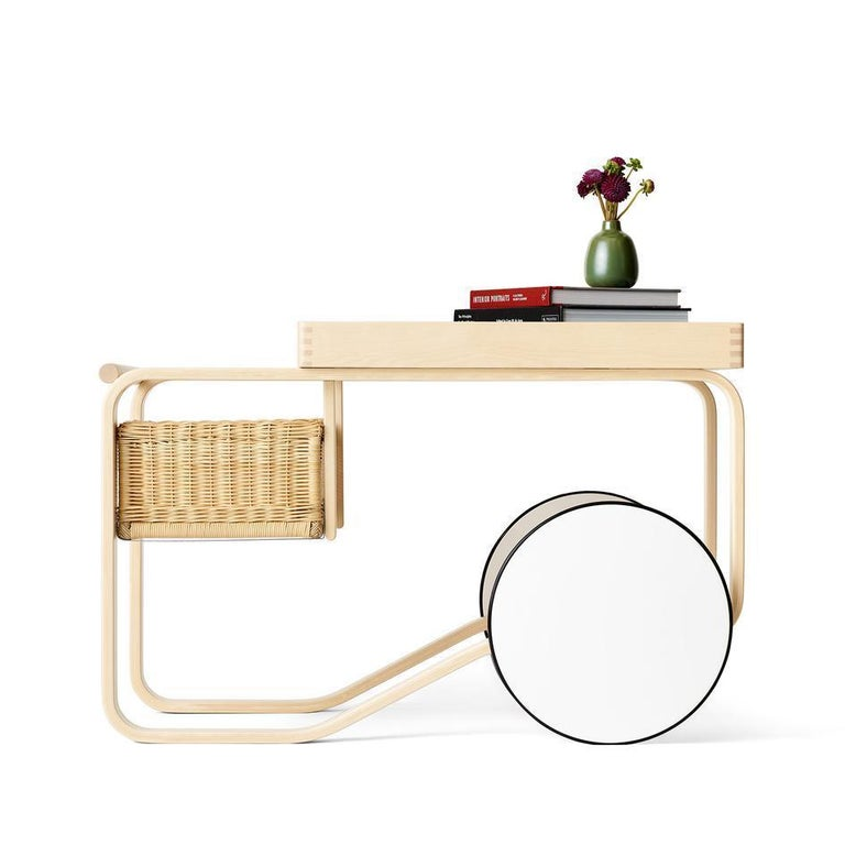 Limited Edition Alvar Aalto Trolley 900 in Penumbra, Artek and Heath, 1stdibs NY In New Condition For Sale In New York, NY