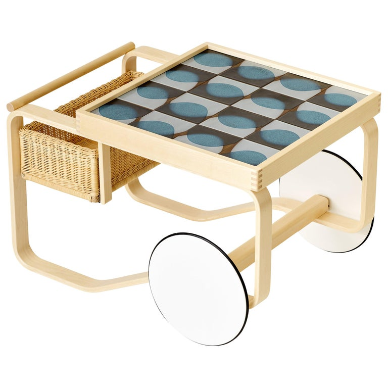 Limited Edition Alvar Aalto Trolley 900 in Penumbra, Artek and Heath, 1stdibs NY For Sale