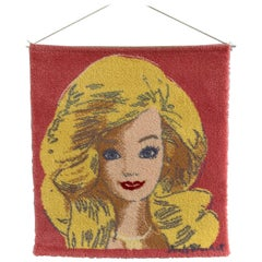 Limited Edition Andy Warhol Barbie Wool Wallhanging by Ege of Denmark