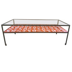 Limited Edition Angle Steel Coffee Table with Dylan Egon Screen Printed Slats