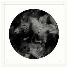 Limited Edition Art Print by 17 Patterns, Cloudbusting Circle Black