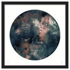 Limited Edition Art Print by 17 Patterns, Cloudbusting Circle Earth Blue