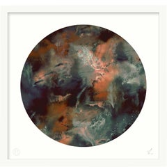 Limited Edition Art Print by 17 Patterns, Cloudbusting Circle Rust