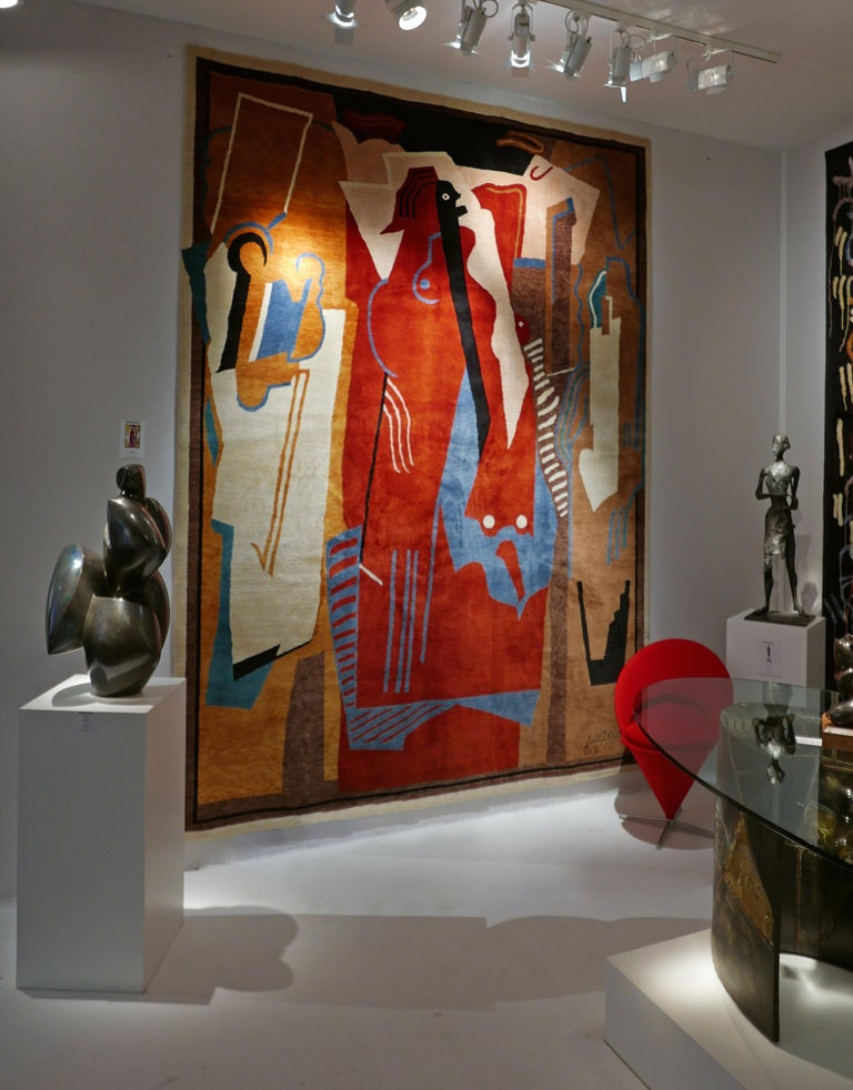 Rug after Albert Gleizes (France, 1881-1953) Design N.34 Handwoven wool Limited edition by Boccara Measures: 200 x 300 cm; 6.56 x 9.84 ft  This Boccara rug has been woven from Albert Gleizes' work: Peinture à Trois éléments, 1924 Gouache on paper 28