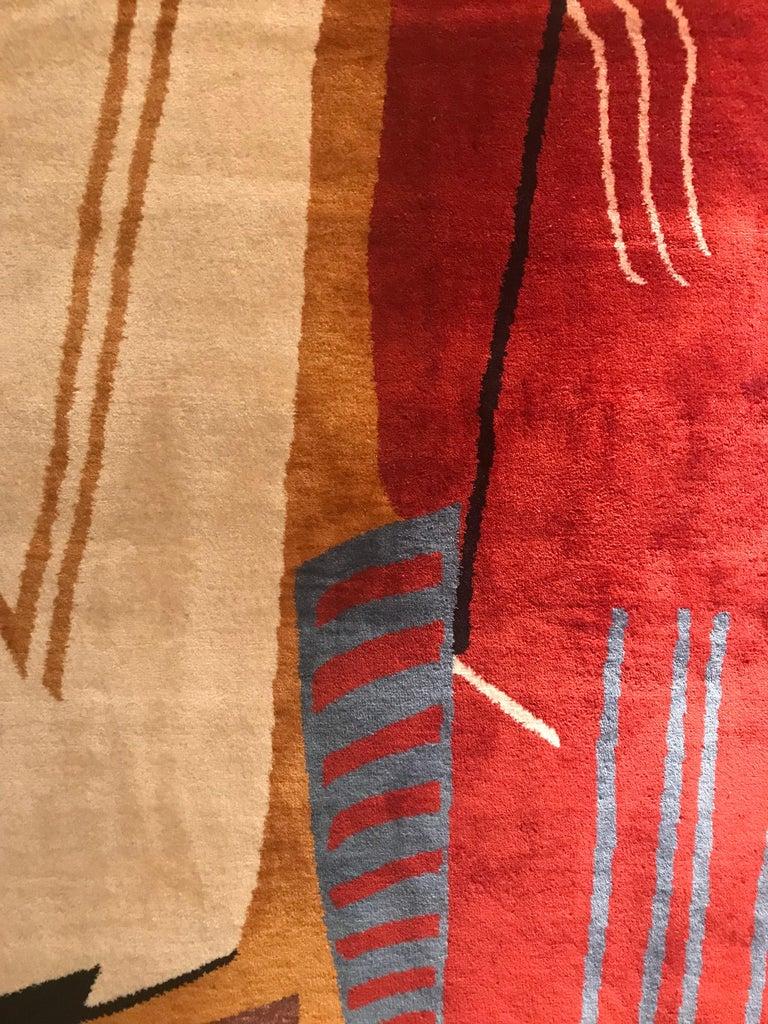 European Boccara Limited Edition Artistic Handmade Wool Rug after Albert Gleizes - N.34 For Sale