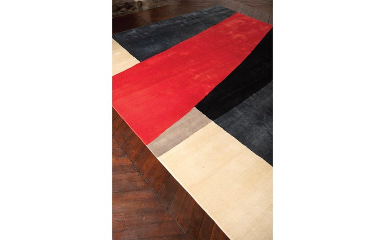 Egyptian Limited Edition Artistic Rug by French Artist François Bonnel For Sale