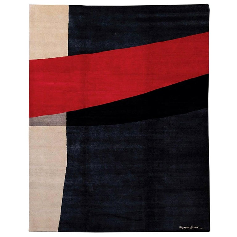 Limited Edition Artistic Rug by French Artist François Bonnel For Sale