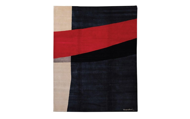 Modern Limited Edition Artistic Rug by French Artist François Bonnel For Sale