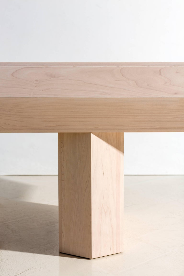 Limited Edition Assemblage Wood Bench in Maple by Fort Standard For Sale 5