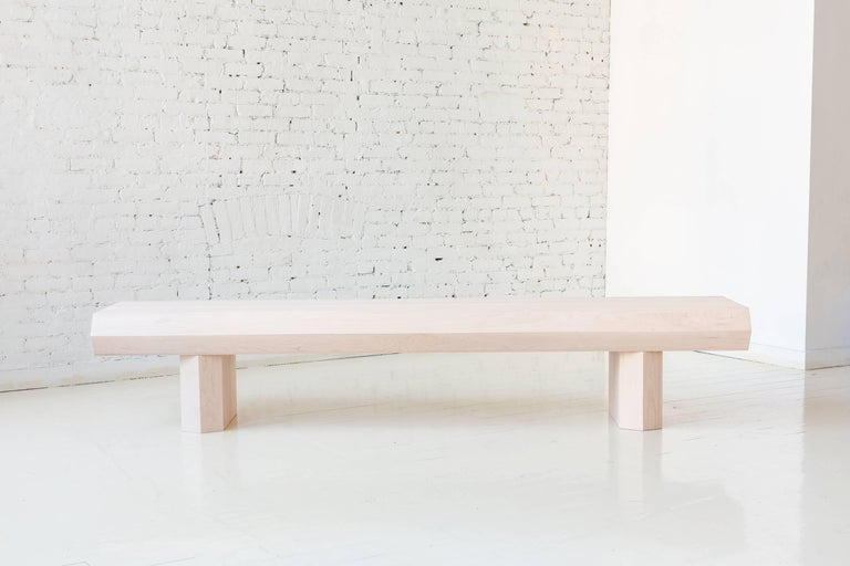 American Limited Edition Assemblage Wood Bench in Maple by Fort Standard For Sale