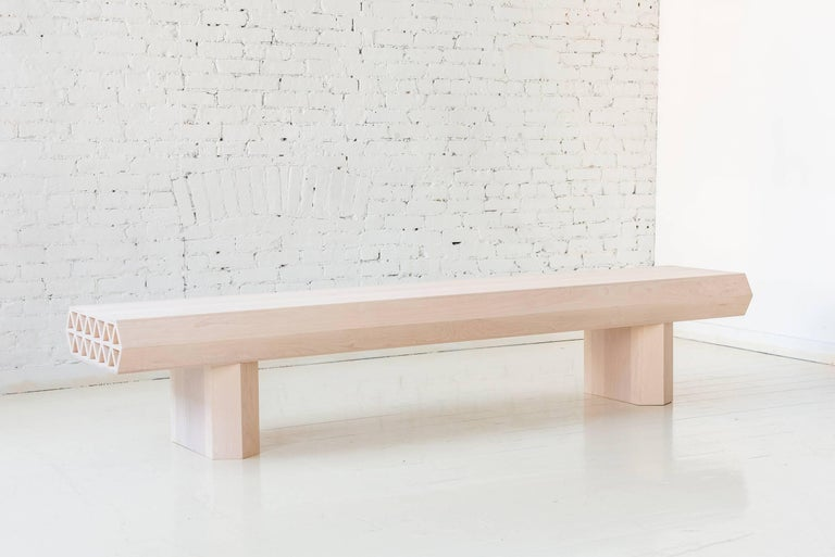 Limited Edition Assemblage Wood Bench in Maple by Fort Standard In New Condition For Sale In Brooklyn, NY