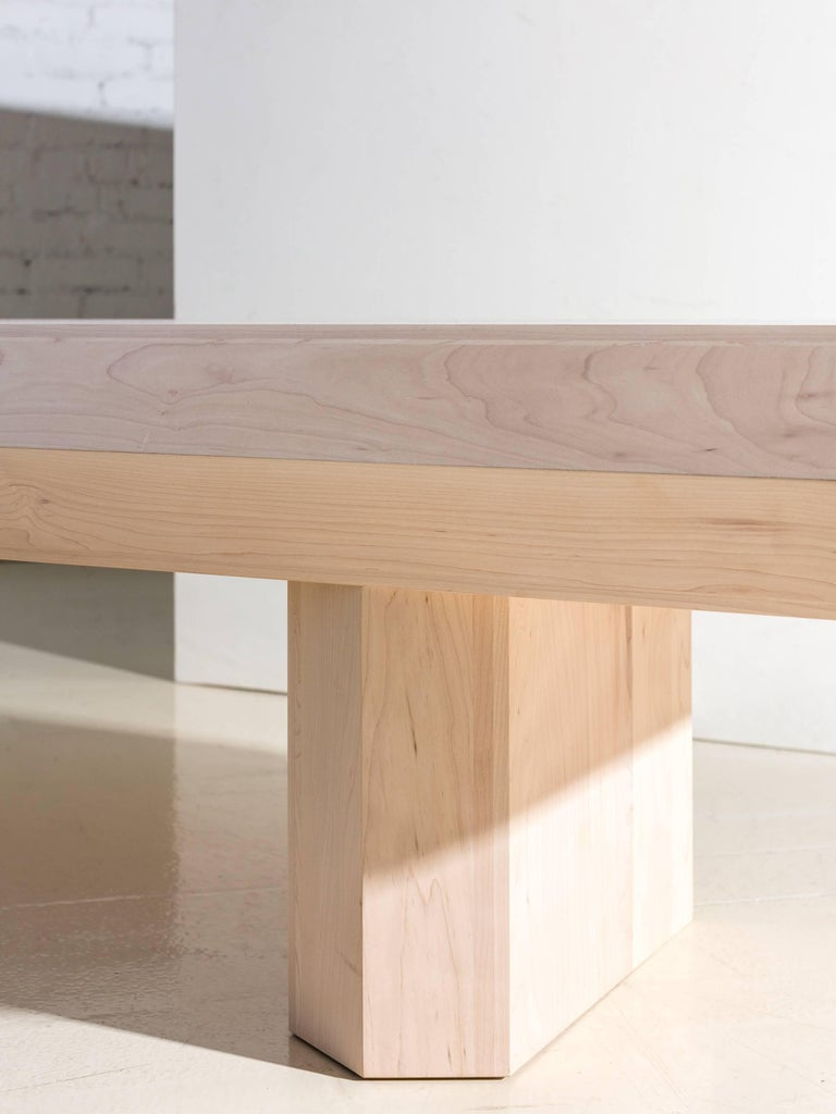 Limited Edition Assemblage Wood Bench in Maple by Fort Standard For Sale 4
