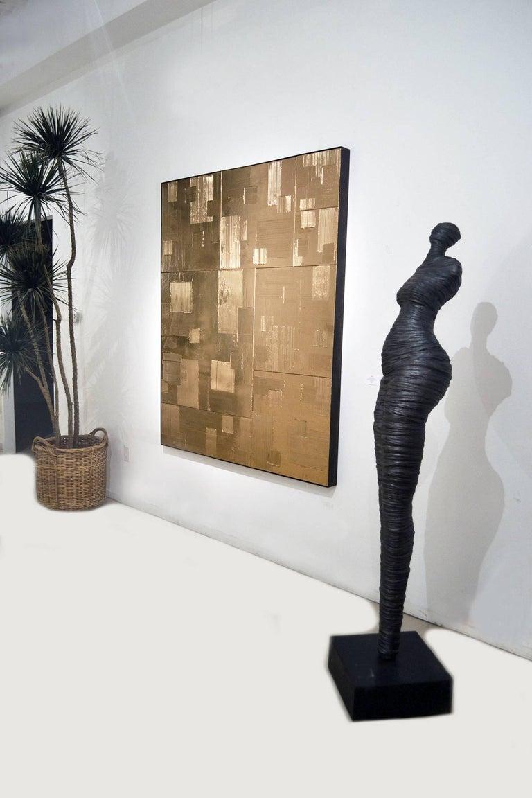 Hand-Carved Limited Edition Auric Rapt Series Sculpture by Birgit Piskor For Sale