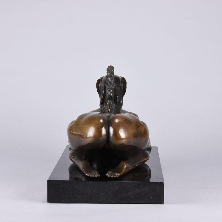 Late 20th Century Limited Edition Austrian Bronze Figure 'Sphinx' by Ernst Fuchs For Sale