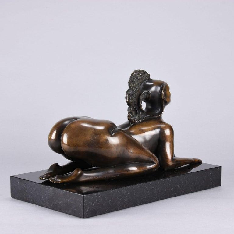 Limited Edition Austrian Bronze Figure 'Sphinx' by Ernst Fuchs For Sale 1