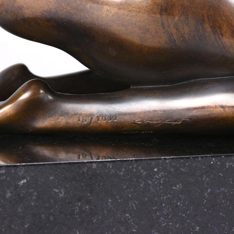 Limited Edition Austrian Bronze Figure 'Sphinx' by Ernst Fuchs For Sale 2