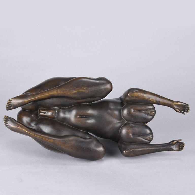 Limited Edition Austrian Bronze Figure 'Sphinx' by Ernst Fuchs For Sale 3