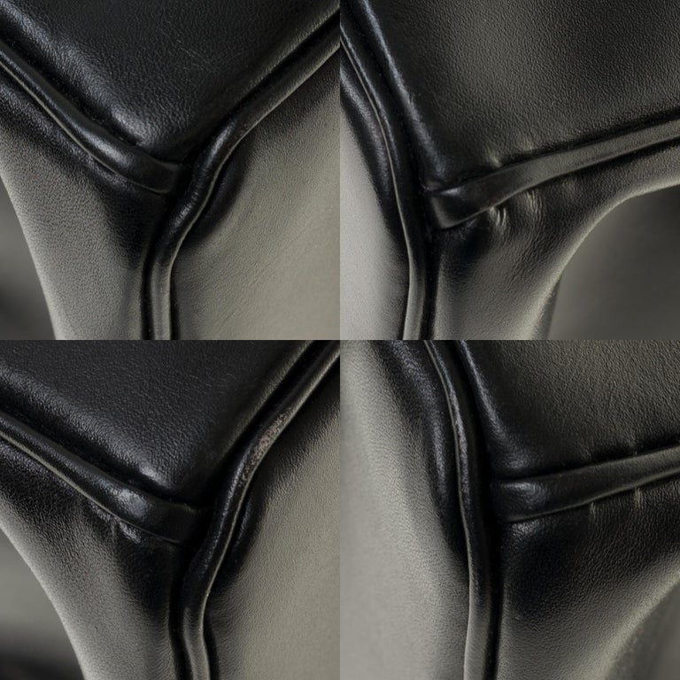 Limited Edition Black Calf Box Leather Birkin 35, Guilloché Palladium Hardware For Sale 8
