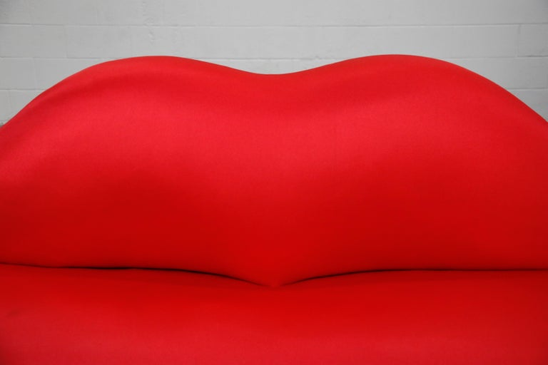 Limited Edition Bocca Sofa by Studio 65 for Gufram, Signed Dated Numbered, 1986 For Sale 3