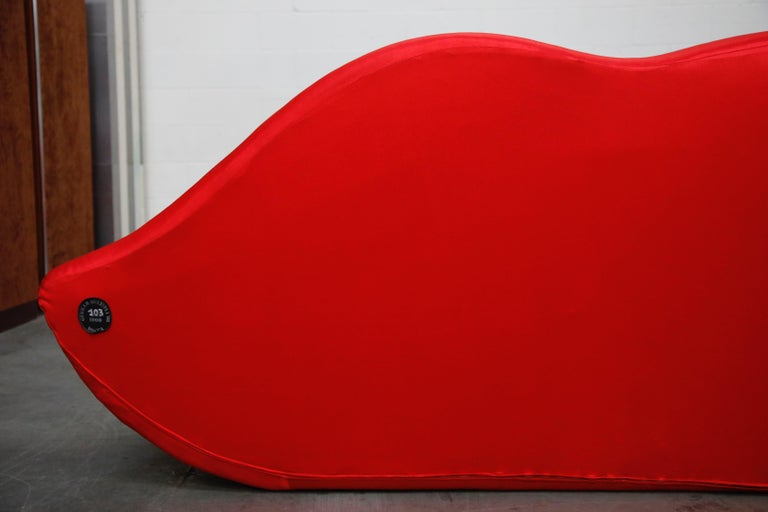 Limited Edition Bocca Sofa by Studio 65 for Gufram, Signed Dated Numbered, 1986 For Sale 12