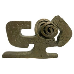 Limited Edition Bronze Abstract Sculpture by Paolo Soleri