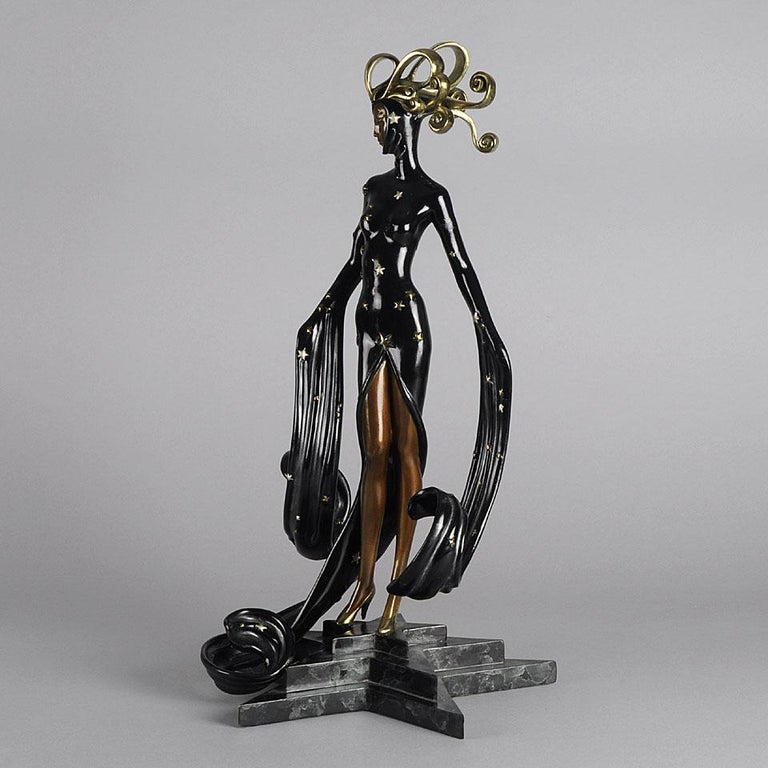 Limited Edition Bronze Figure 'Bal Tabarin' by Erté For Sale 1