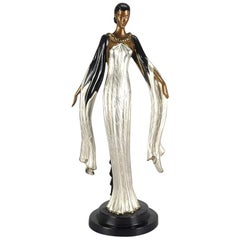 "Limited Edition Bronze Figure ""Fireleaves"" by Erté"