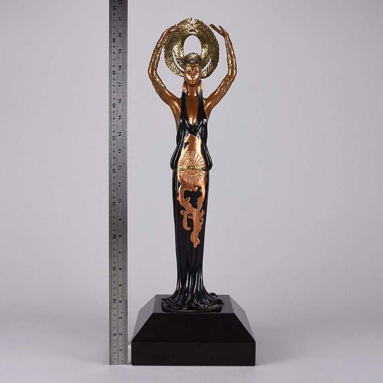 Limited Edition Bronze Figure 'Triumph' by Erté For Sale 4