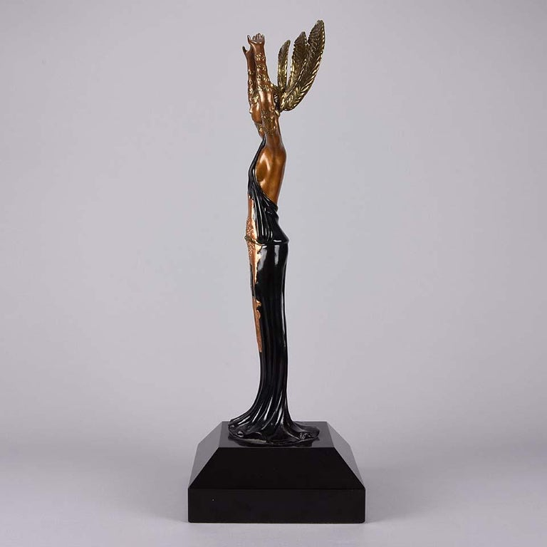 Late 20th Century Limited Edition Bronze Figure 'Triumph' by Erté For Sale