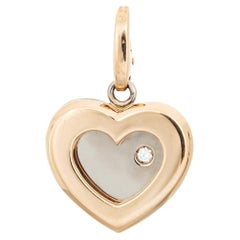 Limited Edition Cartier Diamond Heart Pendant Charm 18k Yellow Gold Jewelry
